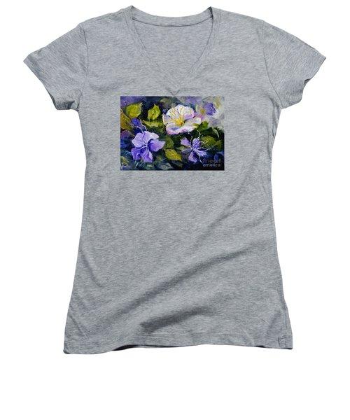 Tibouchina Women's V-Neck T-Shirt