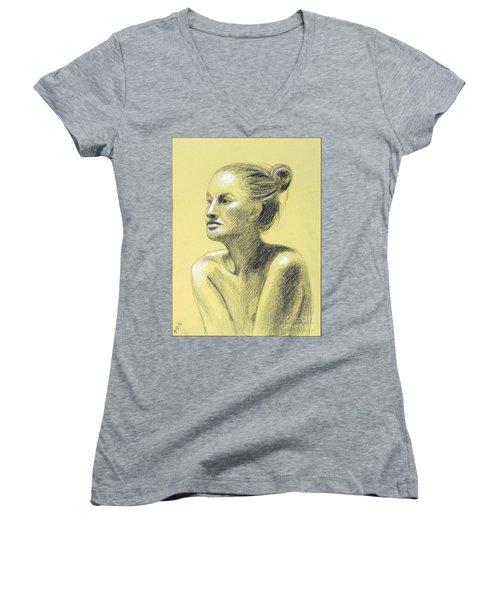 Tiffany Portrait Women's V-Neck T-Shirt