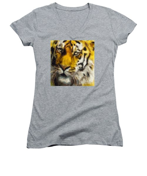 Tiger Women's V-Neck