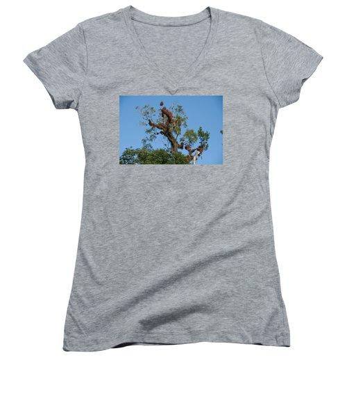 Tikal Furry Tree Women's V-Neck