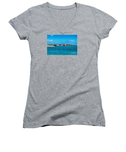Tiki Bar Islamorada Women's V-Neck T-Shirt