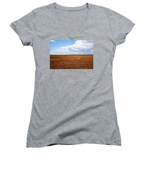 Tilled Earth Women's V-Neck T-Shirt