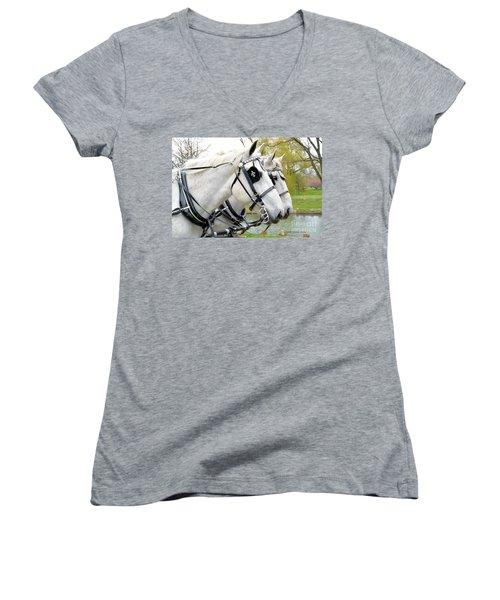 Tillie And Bruce #2 Women's V-Neck T-Shirt