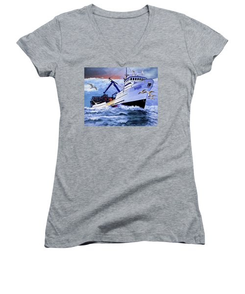 Time To Go Home Women's V-Neck T-Shirt