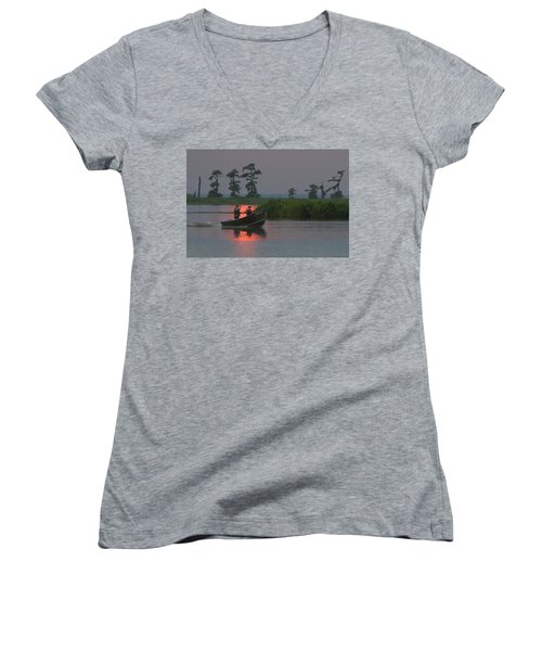 Time With Dad Women's V-Neck (Athletic Fit)
