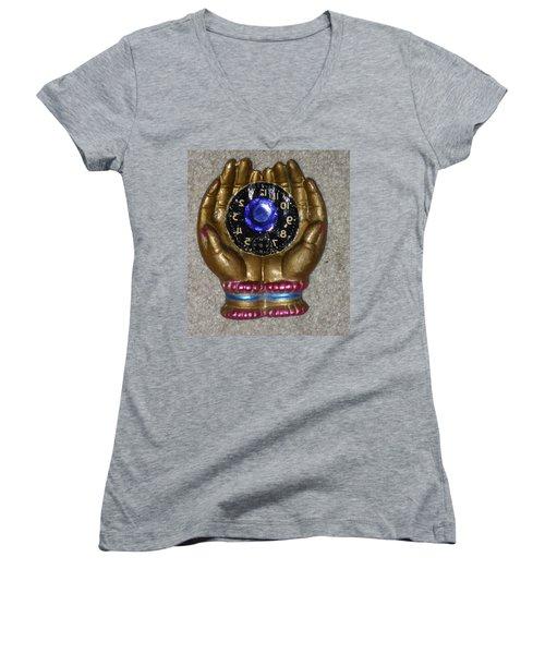 Timeless Hands Women's V-Neck T-Shirt (Junior Cut) by Douglas Fromm