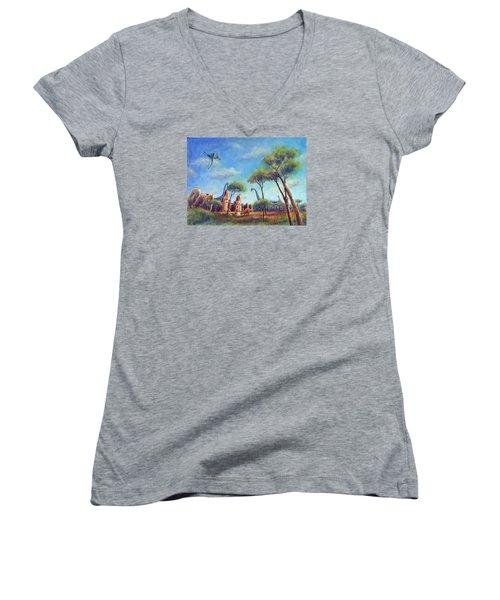 Timeless Women's V-Neck T-Shirt (Junior Cut) by Retta Stephenson