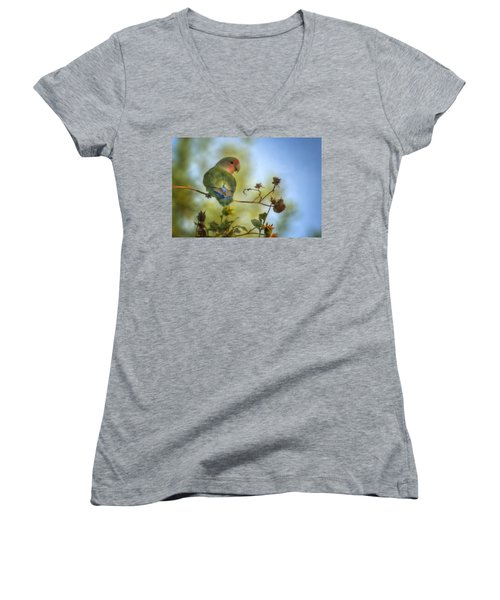 To Love A Lovebird Women's V-Neck (Athletic Fit)