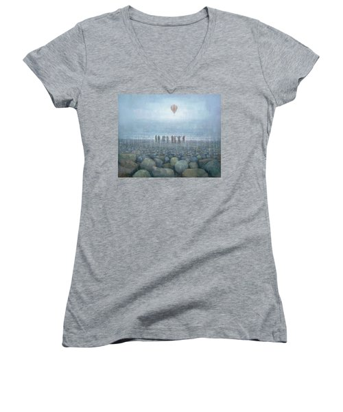 To The Mountains Of The Moon Women's V-Neck (Athletic Fit)