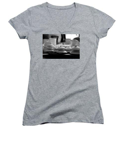 Tops Of Rustic Clay Jugs  Women's V-Neck T-Shirt