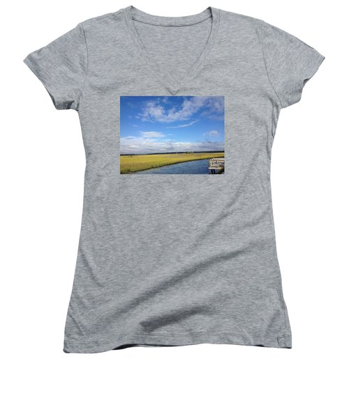 Topsail Island Icw Women's V-Neck T-Shirt