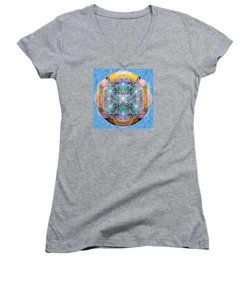 Torusphere Synthesis Cell Firing Soulin IIi Women's V-Neck T-Shirt (Junior Cut) by Christopher Pringer