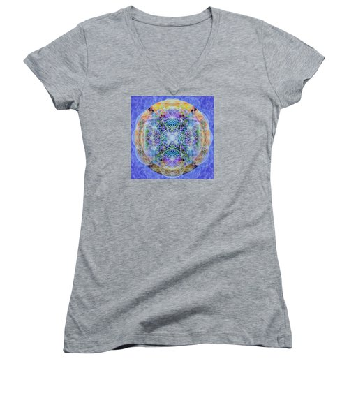 Torusphere Synthesis Interdimensioning Soulin Iv Women's V-Neck T-Shirt (Junior Cut) by Christopher Pringer