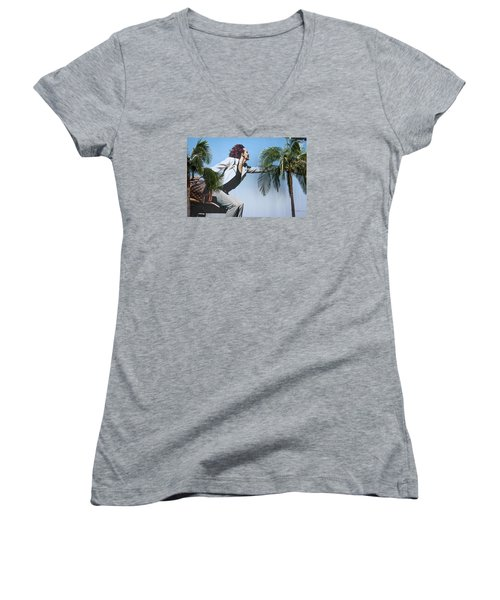 Touching The Canopy.  Women's V-Neck T-Shirt