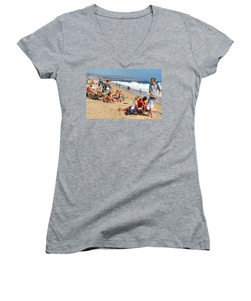 Tourist At Beach Women's V-Neck