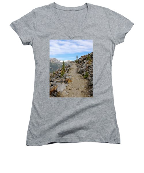 Trail To The Meadows Women's V-Neck (Athletic Fit)