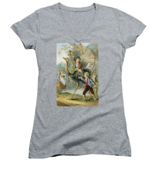 Training The Ostrich Women's V-Neck (Athletic Fit)
