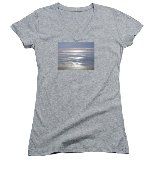 Tranquility Women's V-Neck T-Shirt (Junior Cut) by Richard Brookes