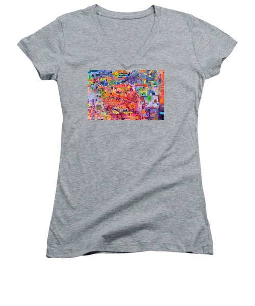 Transition To Chaos Women's V-Neck T-Shirt