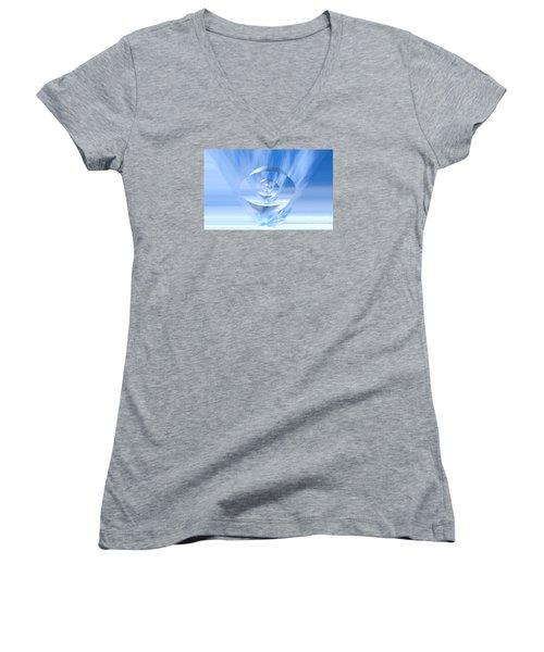 Transparency. Unique Art Collection Women's V-Neck T-Shirt