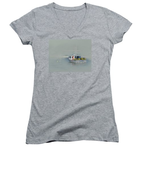 Trapped In The Fog Women's V-Neck
