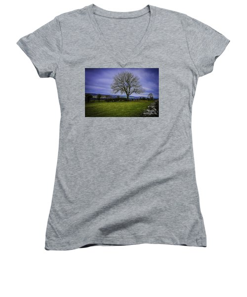 Tree - Hadrian's Wall Women's V-Neck (Athletic Fit)