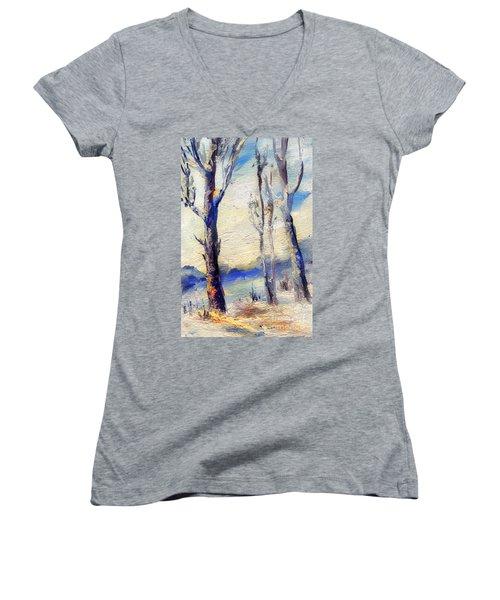Trees In Winter Women's V-Neck