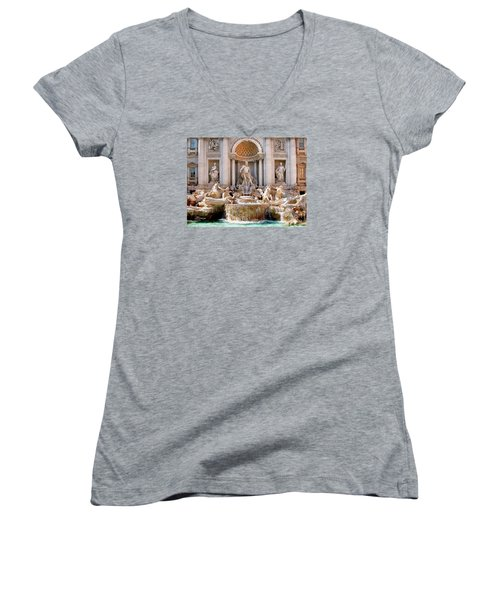 3 Coins Trevi. Rome Women's V-Neck (Athletic Fit)