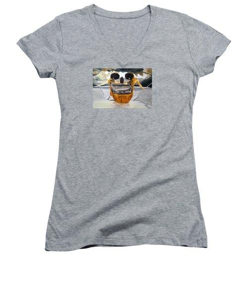 Tribulation Women's V-Neck T-Shirt (Junior Cut) by Lazaro Hurtado