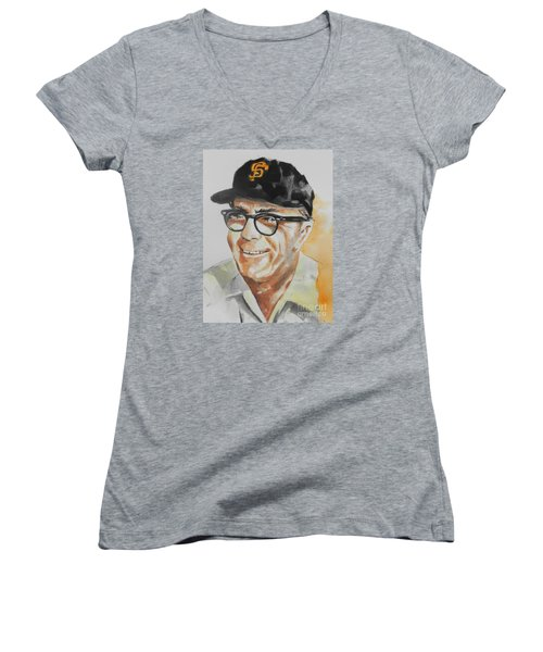 Tribute To Edward Logan My Grandfather  Women's V-Neck (Athletic Fit)