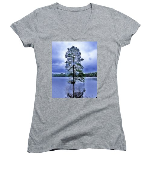 The Healing Tree - Trap Pond State Park Delaware Women's V-Neck