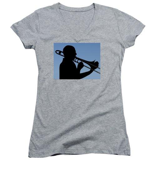 Trombone Player Women's V-Neck T-Shirt