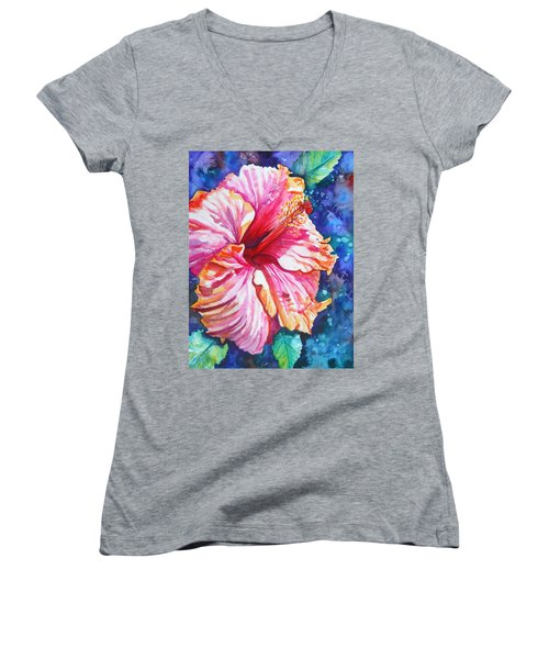 Tropical Hibiscus 4 Women's V-Neck
