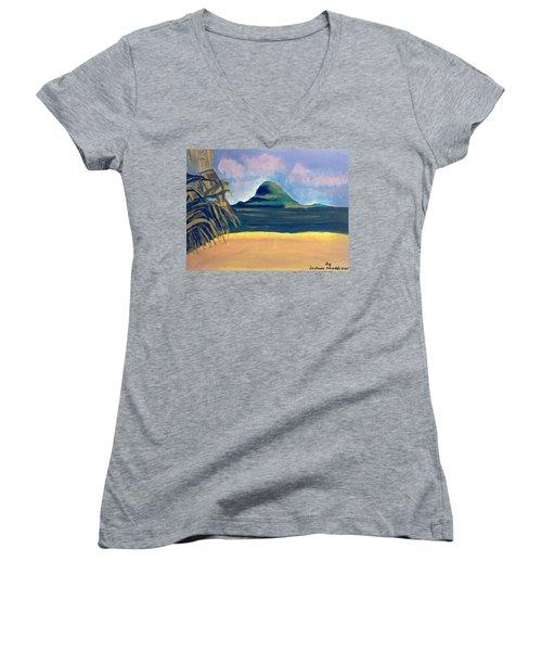 Paradise  Women's V-Neck T-Shirt (Junior Cut) by Joshua Maddison