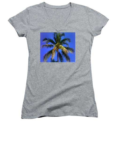 Tropical Palm Trees 8 Women's V-Neck (Athletic Fit)