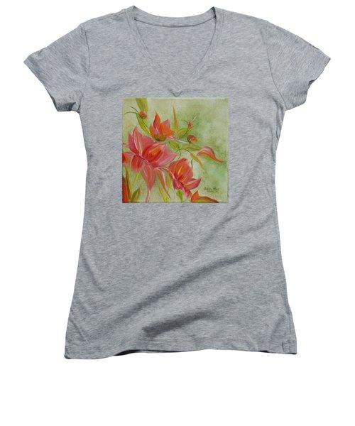 Tropical Splash Women's V-Neck T-Shirt