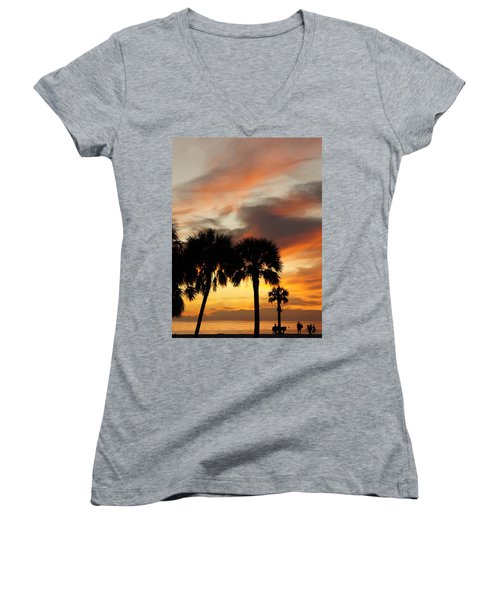 Women's V-Neck T-Shirt (Junior Cut) featuring the photograph Tropical Vacation by Laurie Perry