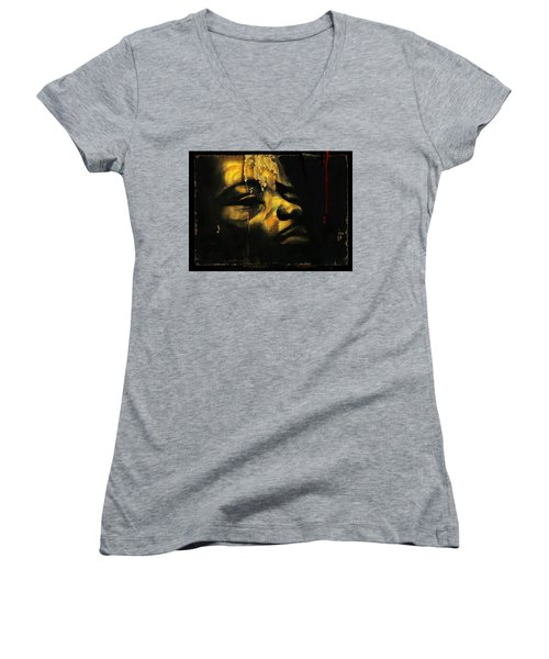 Troubled  Africa Women's V-Neck (Athletic Fit)