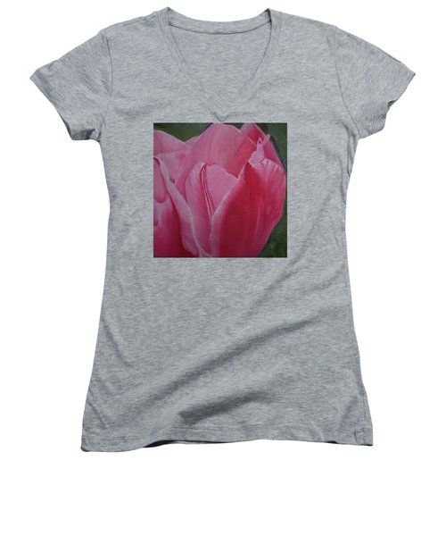 Tulip Blooming Women's V-Neck T-Shirt