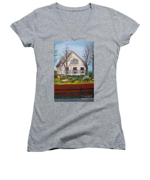 Tulip Cottage Women's V-Neck T-Shirt