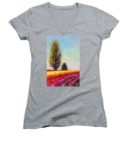 Tulip Sentinels Women's V-Neck