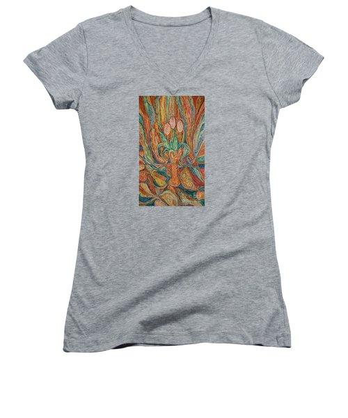 Tulips I Women's V-Neck T-Shirt
