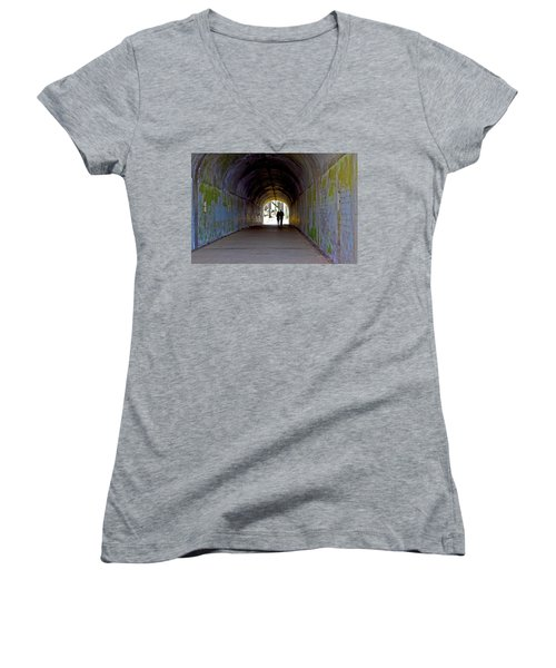 Tunnel Of Love Women's V-Neck (Athletic Fit)