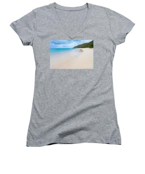 Turner Beach Antigua Women's V-Neck T-Shirt