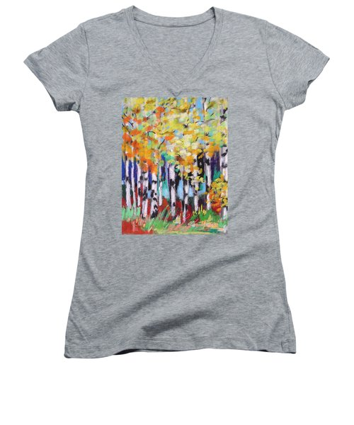 Turning Birches Women's V-Neck T-Shirt