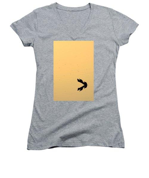 Turtle Art Women's V-Neck T-Shirt (Junior Cut) by Fotosas Photography