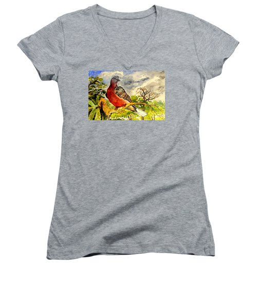 Turtle - Dove Women's V-Neck T-Shirt