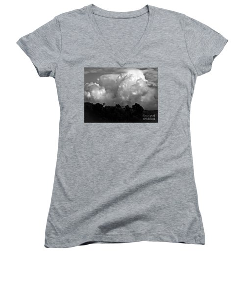 Tuscan Storm Rising From The Valley Women's V-Neck