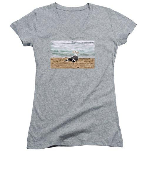 Twin Beaks Women's V-Neck T-Shirt (Junior Cut) by Susan Wiedmann