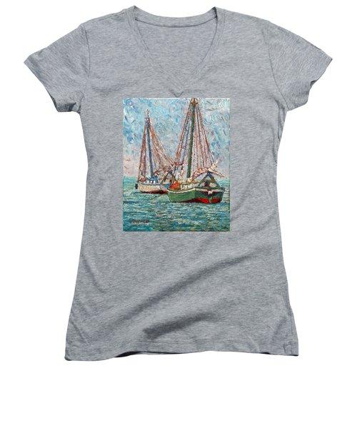 Twin Boats Women's V-Neck